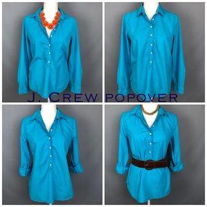 J. Crew Factory plaited popover light turquoise